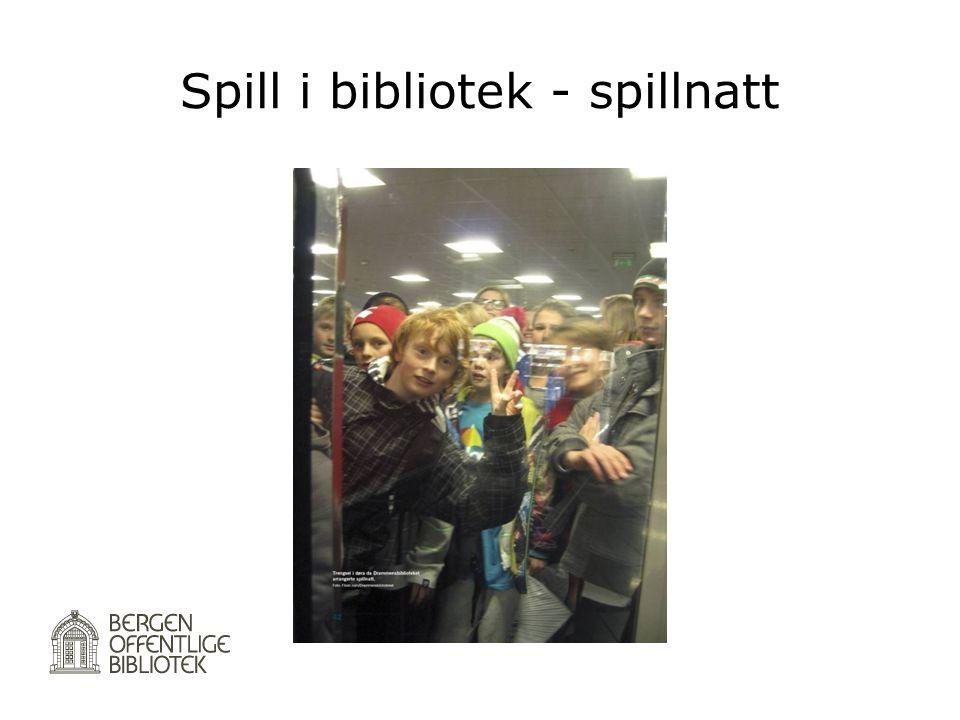 Spill i bibliotek - spillnatt