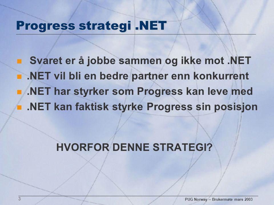 PUG Norway – Brukermøte mars 2003 4 Keyboardkrav ved bruk av.NET