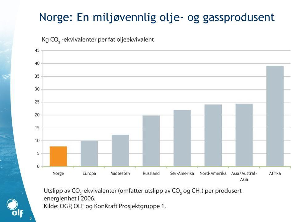6 Fremtidig produksjon avhengig av nye funn Total produksjon på norsk sokkel Kilde: OD ODs forventningsbane