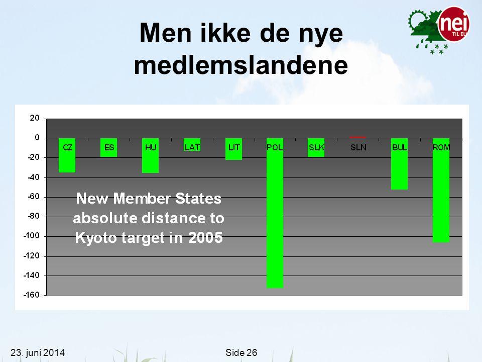 23. juni 2014Side 26 Men ikke de nye medlemslandene