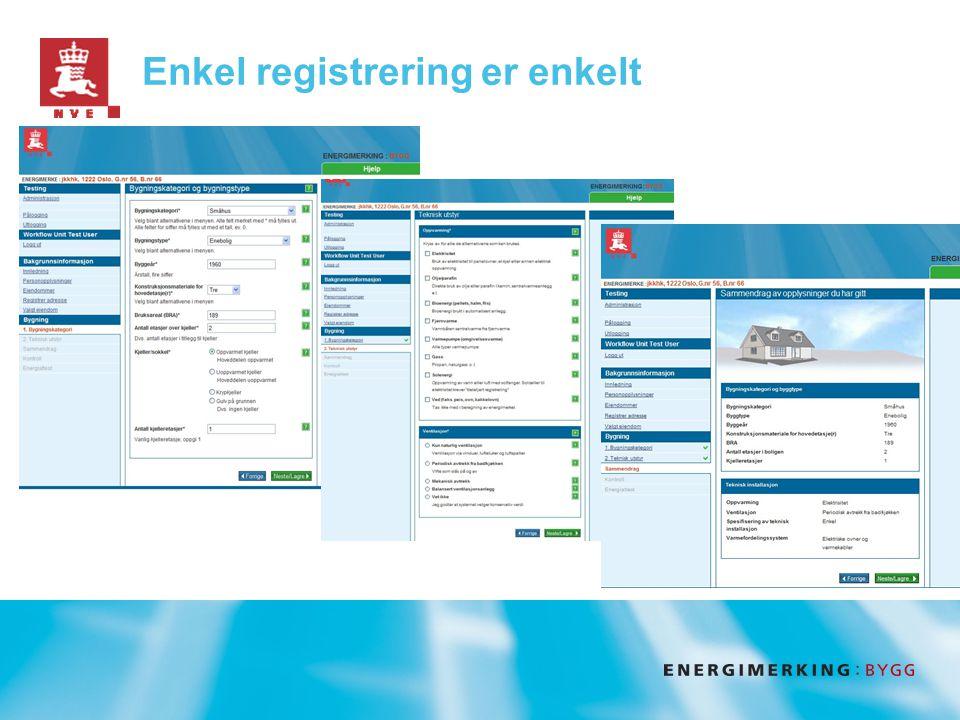 Enkel registrering er enkelt