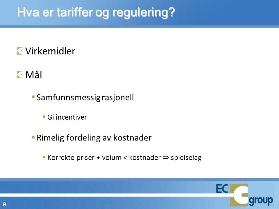 Hva er tariffer og regulering.