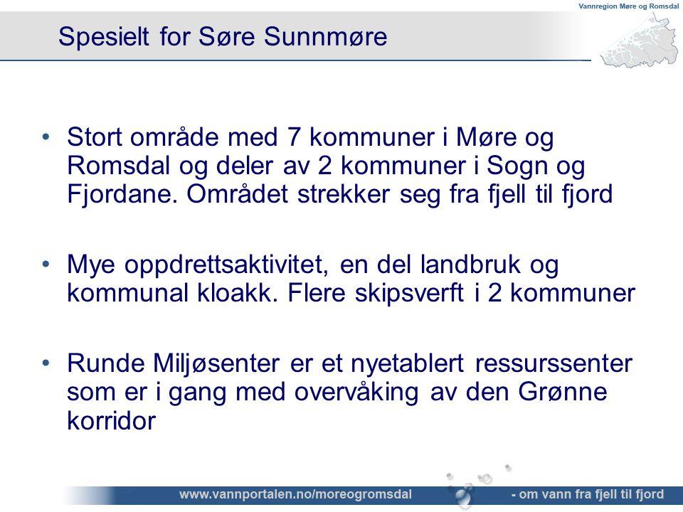 Spesielt for Søre Sunnmøre •Stort område med 7 kommuner i Møre og Romsdal og deler av 2 kommuner i Sogn og Fjordane. Området strekker seg fra fjell ti