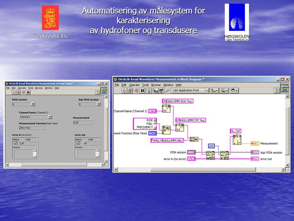 LabVIEW • Grafisk programmeringsmiljø • Måling og analyse • Kontroll • Enkel kommunikasjon med måleenheter • Signalbehandling • Datapresentasjon • Pla