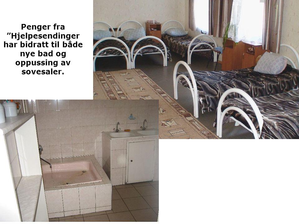 Penger fra Hjelpesendinger har bidratt til både nye bad og oppussing av sovesaler.