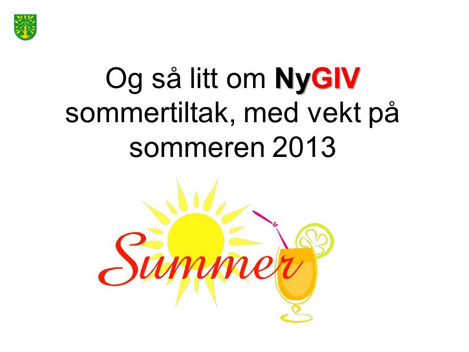 NyGIV Og så litt om NyGIV sommertiltak, med vekt på sommeren 2013