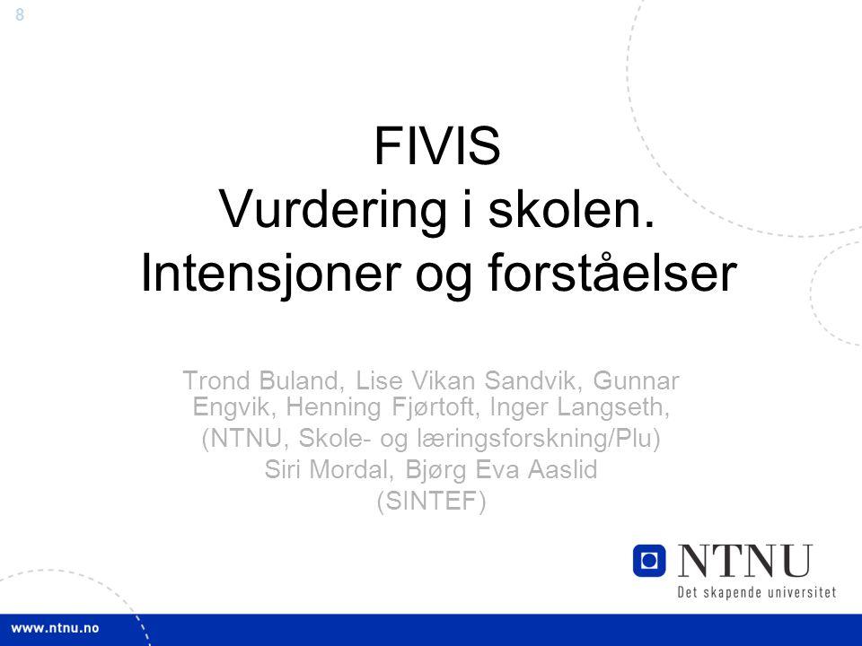 8 FIVIS Vurdering i skolen.