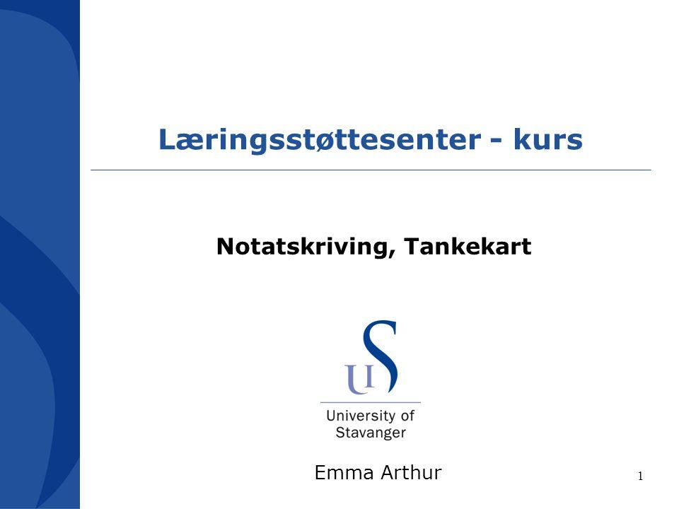 Læringsstøttesenter - kurs Notatskriving, Tankekart Emma Arthur 1