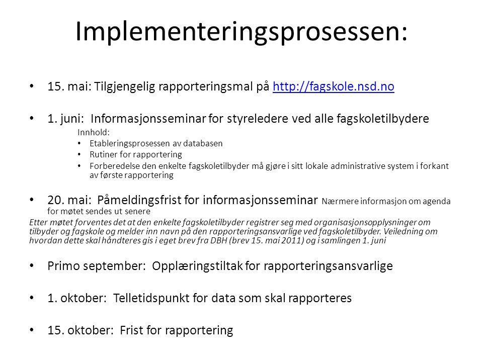 Implementeringsprosessen: • 15.