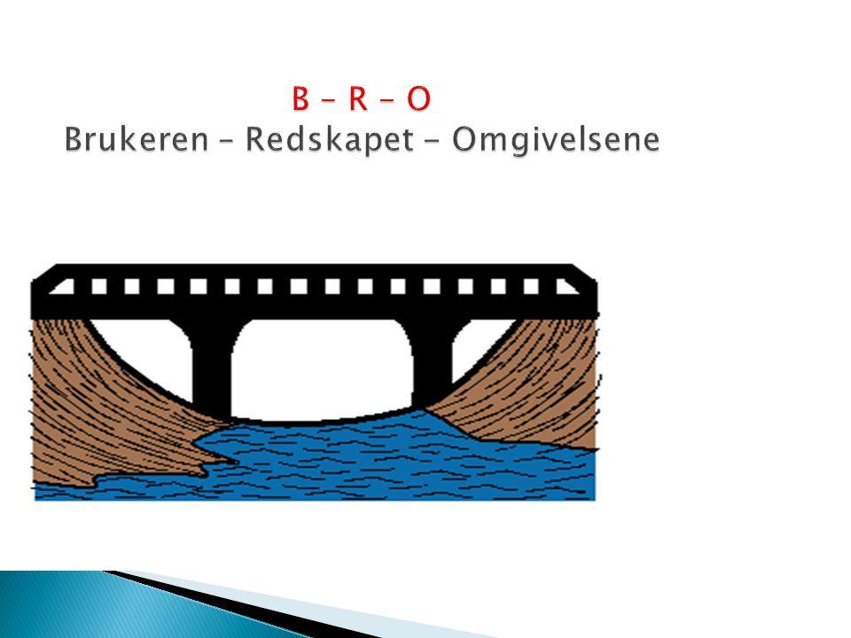 B – R – O Brukeren – Redskapet - Omgivelsene