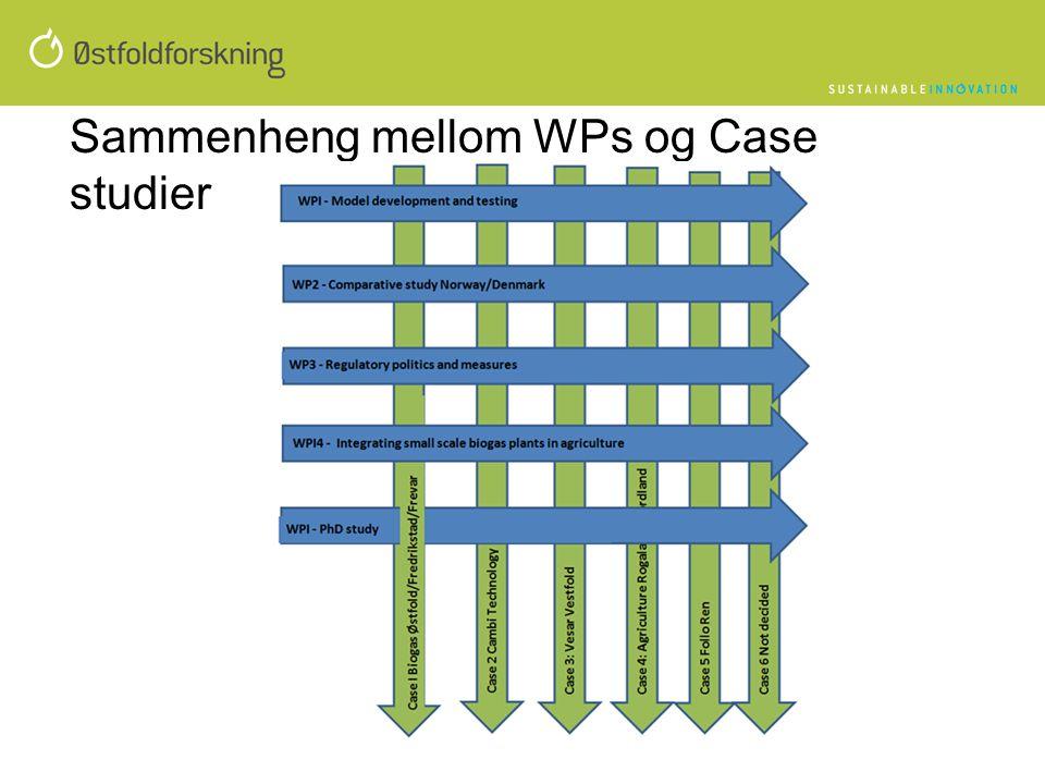 Sammenheng mellom WPs og Case studier
