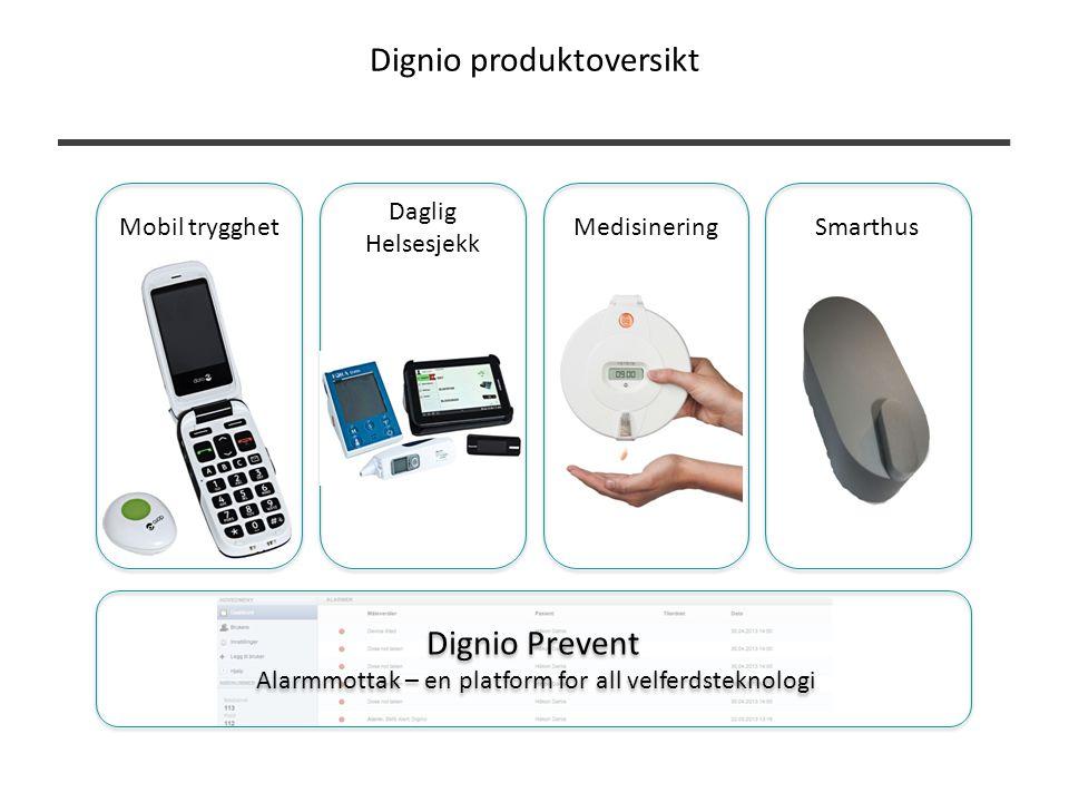 Dignio Prevent Alarmmottak – en platform for all velferdsteknologi Dignio Prevent Alarmmottak – en platform for all velferdsteknologi Daglig Helsesjek