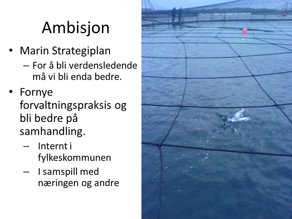 Ambisjon • Marin Strategiplan – For å bli verdensledende må vi bli enda bedre.