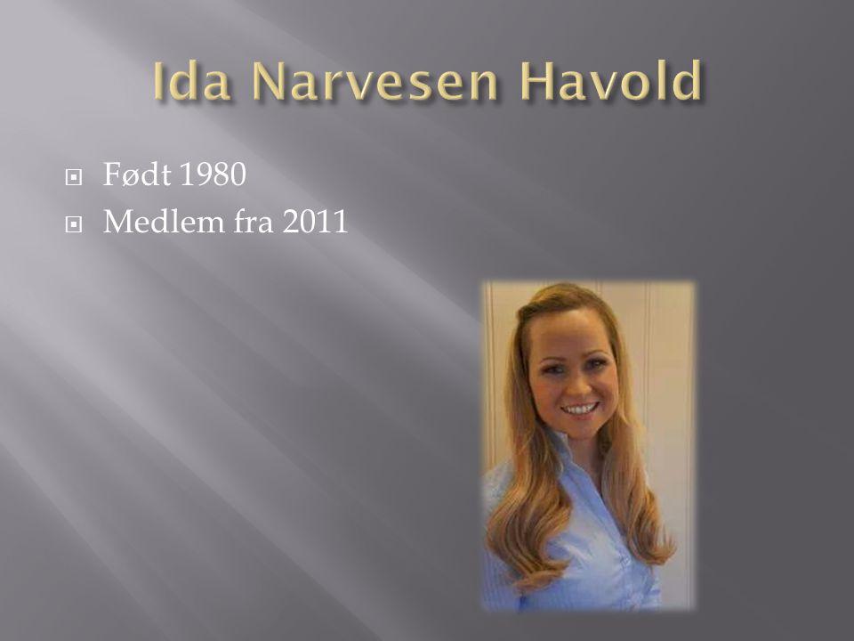  Født 1980  Medlem fra 2011