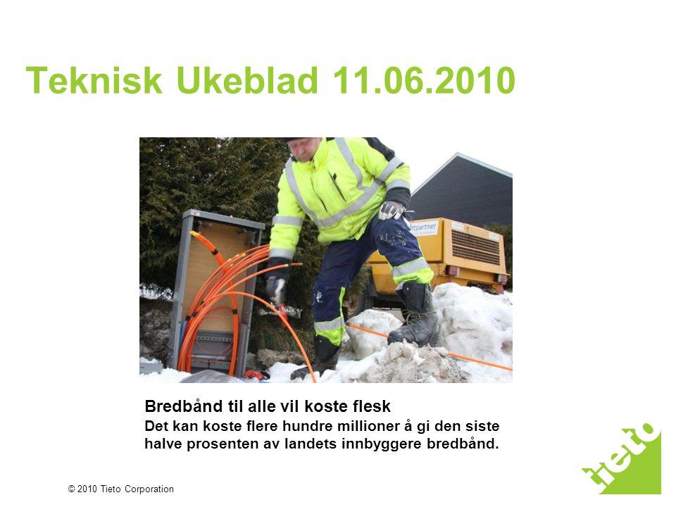 © 2010 Tieto Corporation Uten standarder…