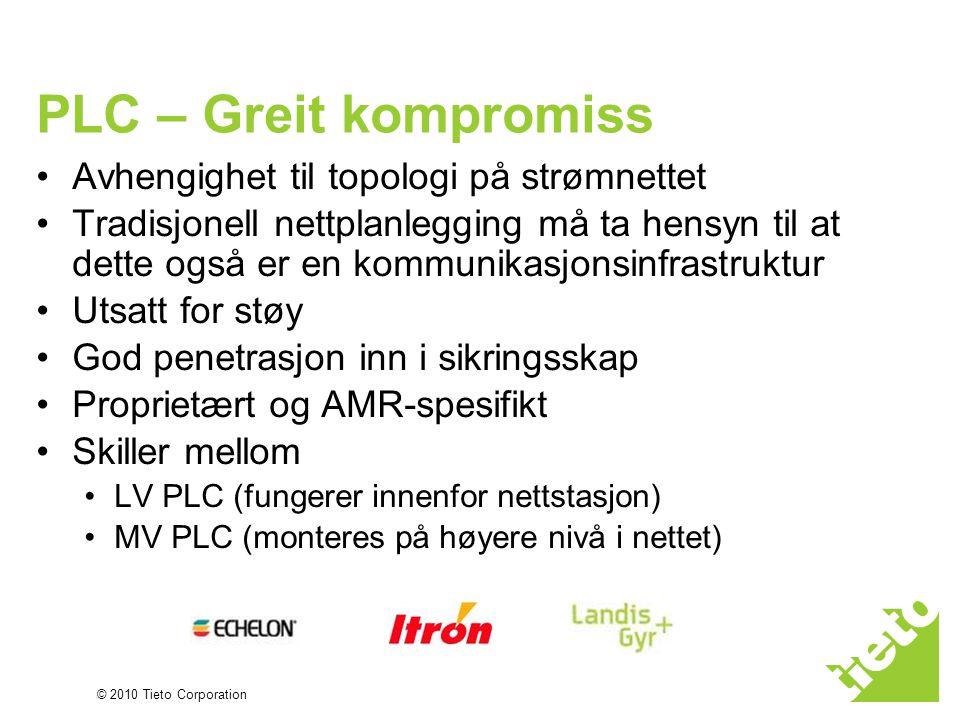 © 2010 Tieto Corporation PLC – Greit kompromiss •Avhengighet til topologi på strømnettet •Tradisjonell nettplanlegging må ta hensyn til at dette også