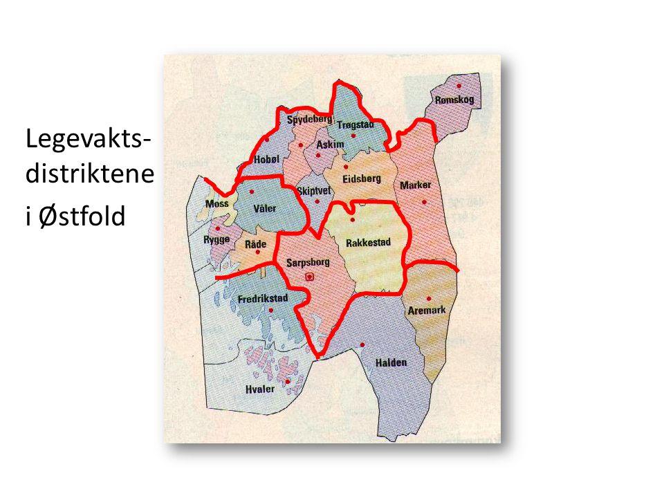 Legevakts- distriktene i Østfold