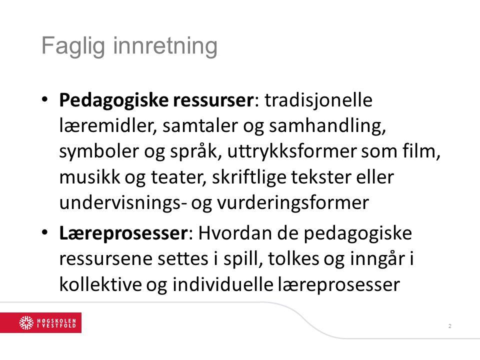 «Søkernes prosjekter bør orientere seg mot ett eller fler av følgende foki»: • Hvordan pedagogiske ressurser inngår i de aktiviteter som utspiller seg i barnehage, skole og høyere utdanning.