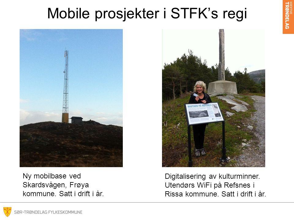 Mobile prosjekter i STFK's regi Ny mobilbase ved Skardsvågen, Frøya kommune.