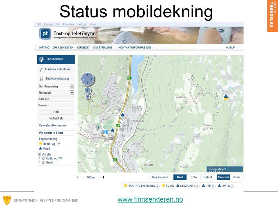 Status mobildekning www.finnsenderen.no