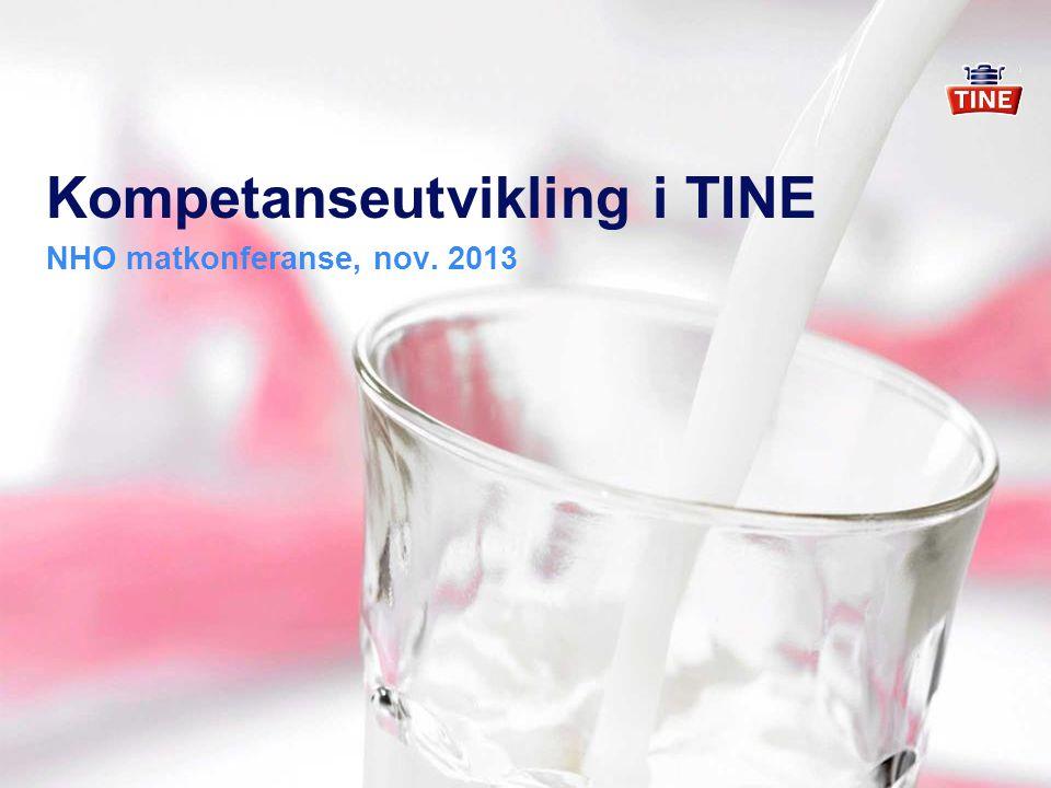 Kompetanseutvikling i TINE NHO matkonferanse, nov. 2013