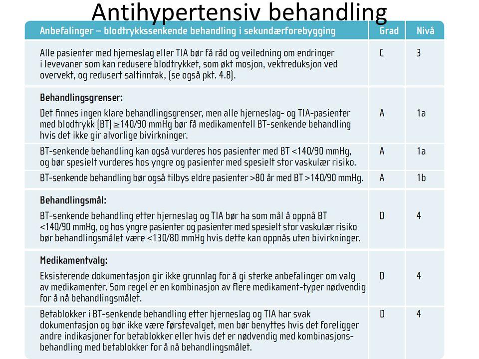 Antihypertensiv behandling