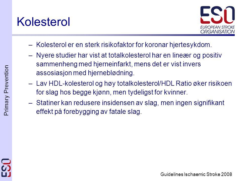 Sekundærforebygging ved Karotisstenose