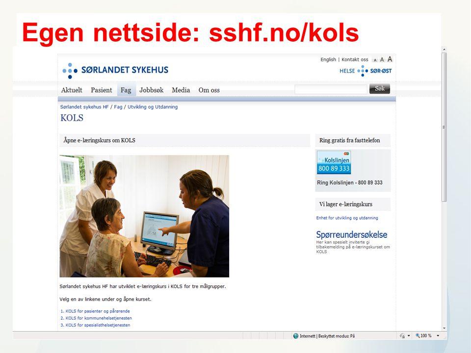 Egen nettside: sshf.no/kols