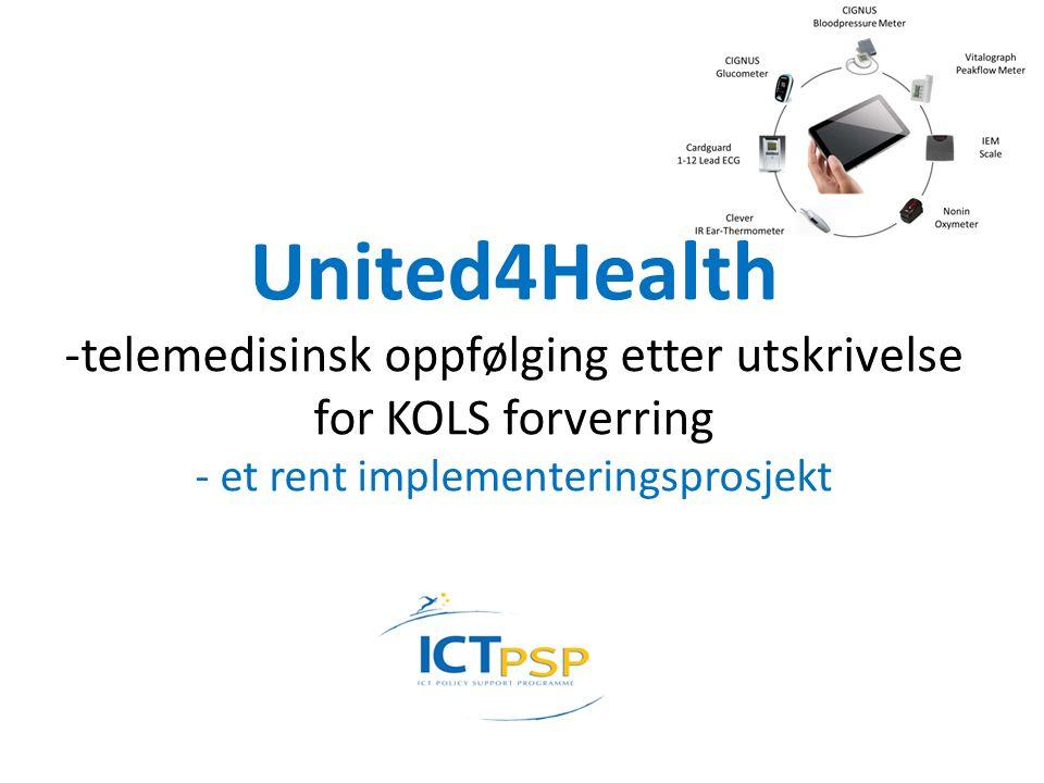 United4Health -telemedisinsk oppfølging etter utskrivelse for KOLS forverring - et rent implementeringsprosjekt