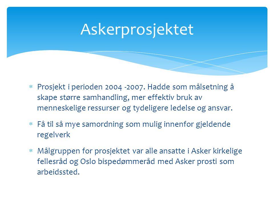  Prosjekt i perioden 2004 -2007.