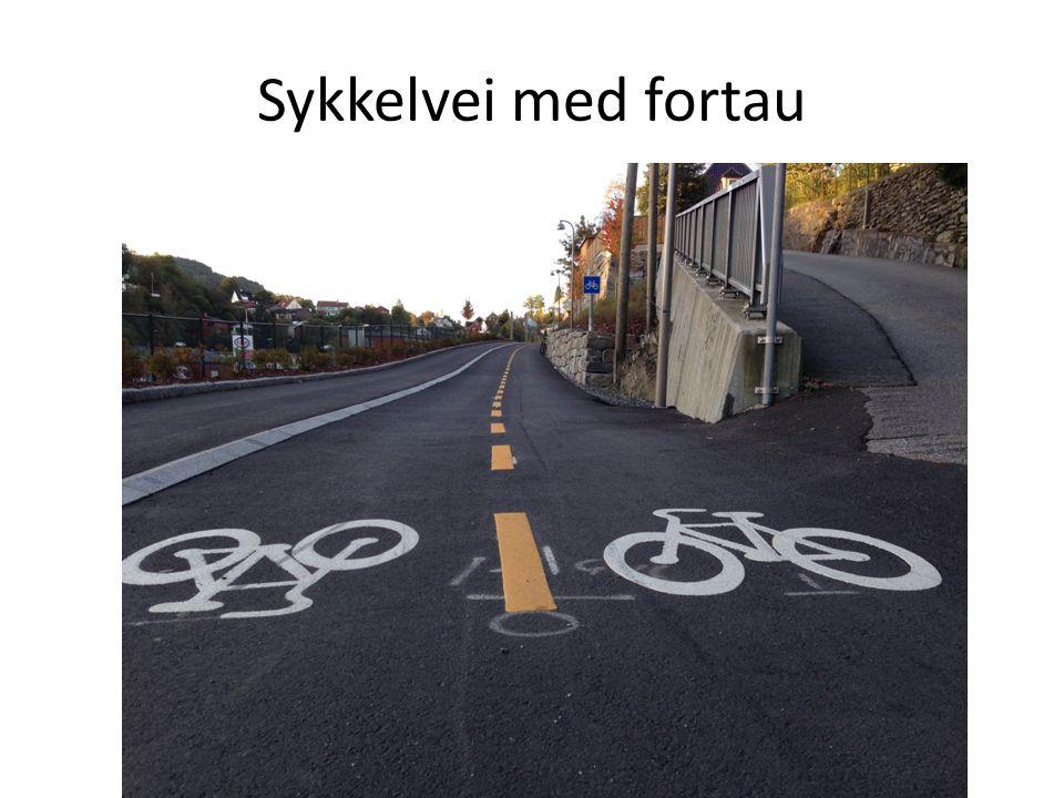Sykkelvei med fortau