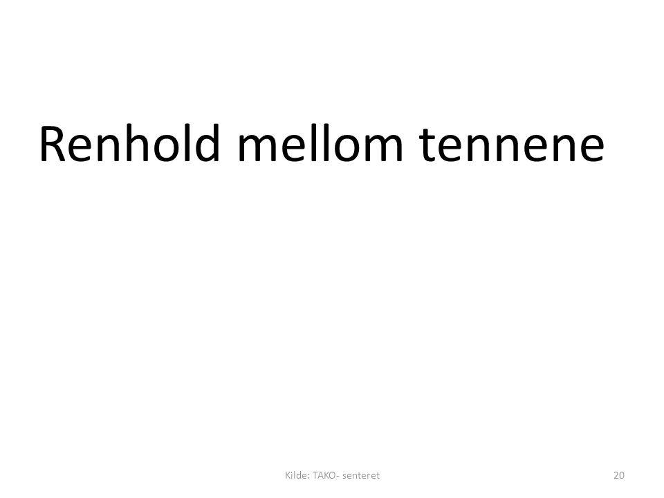 Renhold mellom tennene Kilde: TAKO- senteret20