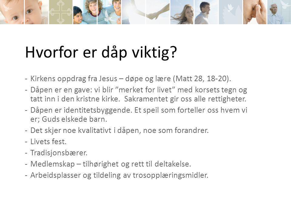 Veien videre Dåp som fokusområde i alle de 10 menighetene i Bærum fra 2014.