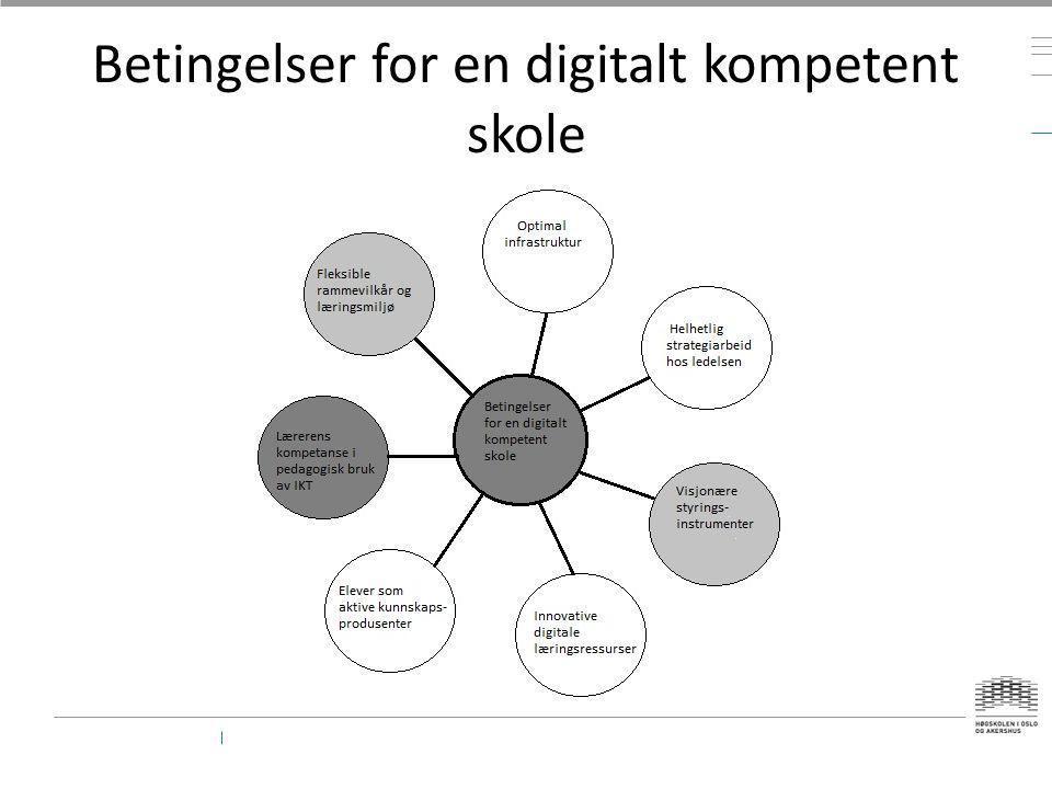Betingelser for en digitalt kompetent skole