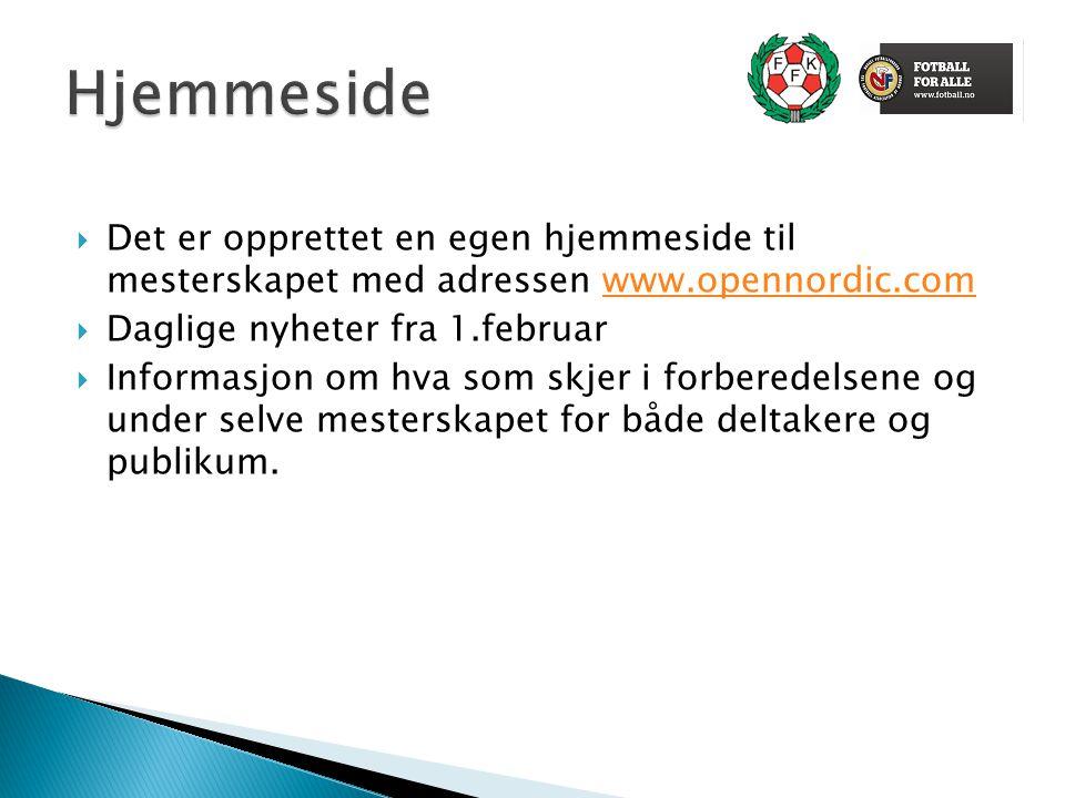  Informasjonsturne til alle kommuner i Finnmark  Profileringsmateriell  Mesterskapslåt  Presentasjonsvideo  Profileringsarrangement  Landslagsdag  Skoleturnering  Mottakelse på flyplassen  Attache  Åpningskonsert og sentrumsarrangement