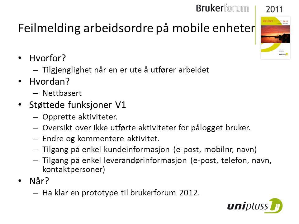 Feilmelding arbeidsordre på mobile enheter • Hvorfor.