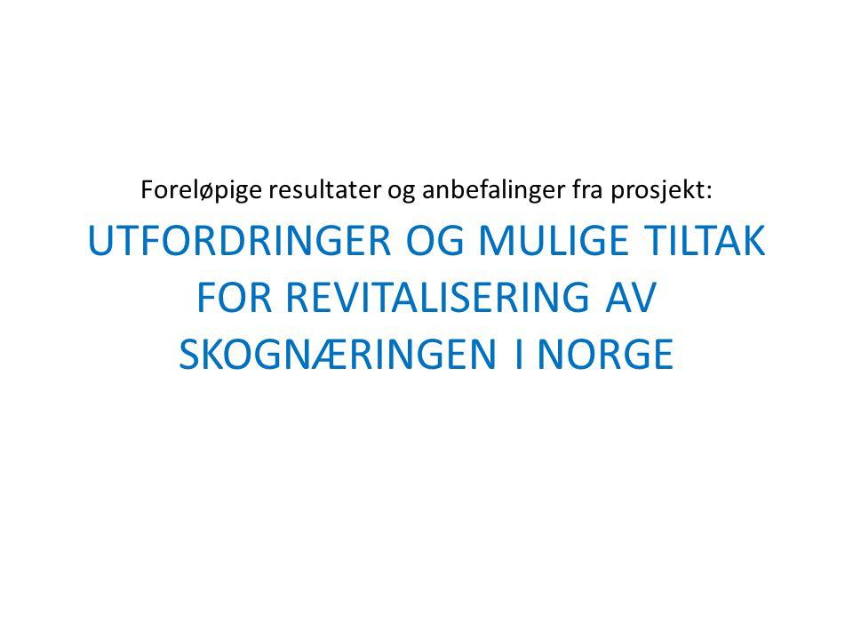 Utgangspunkt En samarbeidsgruppe bestående av Damvad, Glommen Skog, Norsk Institutt for Skog og Landskap og NORSKOG, fikk støtte fra LMD innenfor ovenfor angitte utlysing.