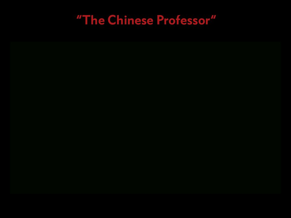 The Chinese Professor