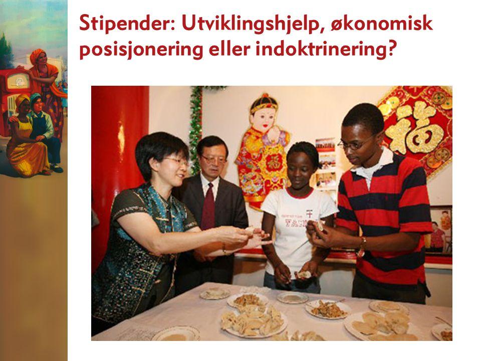 Stipender: Utviklingshjelp, økonomisk posisjonering eller indoktrinering