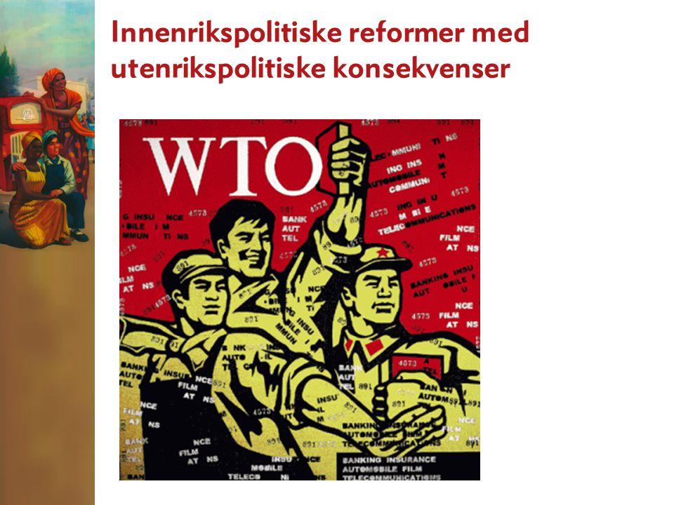 Innenrikspolitiske reformer med utenrikspolitiske konsekvenser