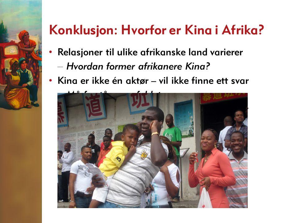 Konklusjon: Hvorfor er Kina i Afrika.