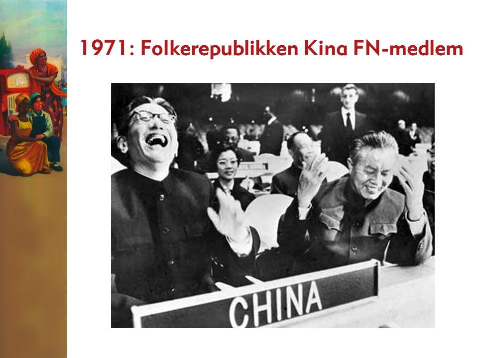 1971: Folkerepublikken Kina FN-medlem