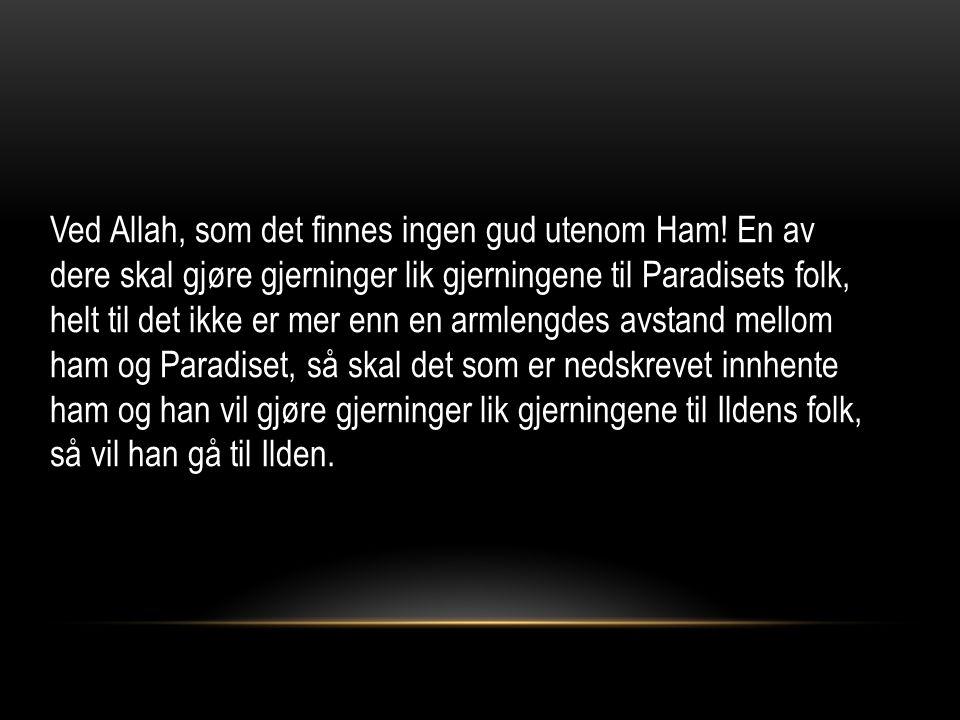 Ved Allah, som det finnes ingen gud utenom Ham.