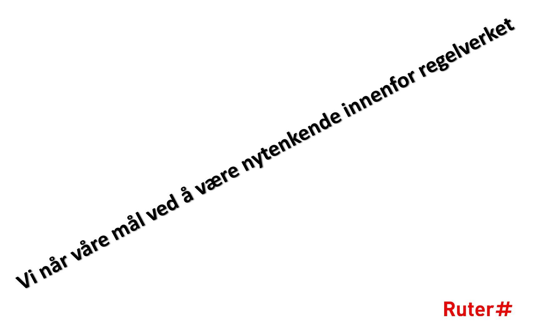 Ruters program for å forhindre korrupsjon og andre alvorlige regelbrudd 1.Forebygge a.Etisk regelverk (Personalhåndboken) b.Handlingsregler for leverandører (jf FNs Global Compact 10 prinsipper, www.kollektivanbud.no) c.Klar lederforankring: «Tone from the top» er viktig.