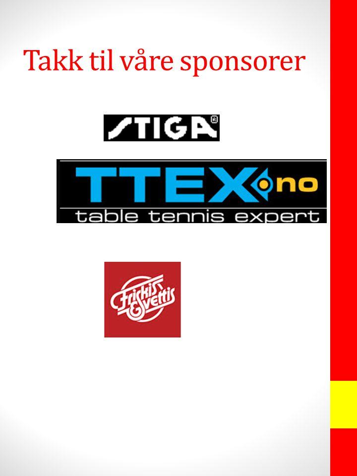 Takk til våre sponsorer