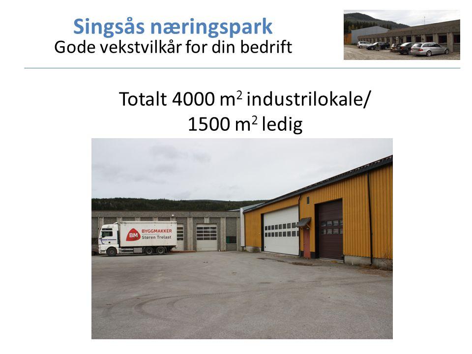 Totalt 4000 m 2 industrilokale/ 1500 m 2 ledig