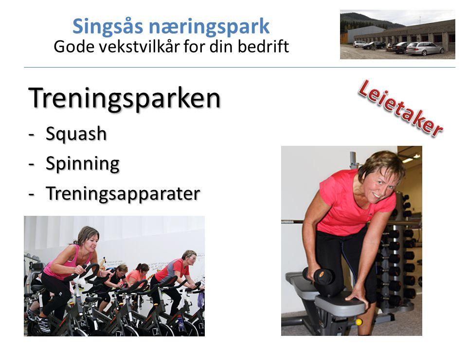 Treningsparken -Squash -Spinning -Treningsapparater
