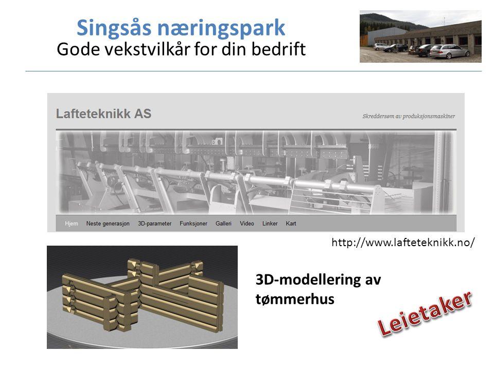 http://www.lafteteknikk.no/ 3D-modellering av tømmerhus