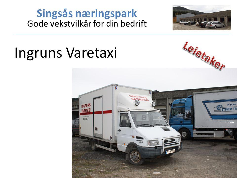 Singsås næringspark Gode vekstvilkår for din bedrift Ingruns Varetaxi