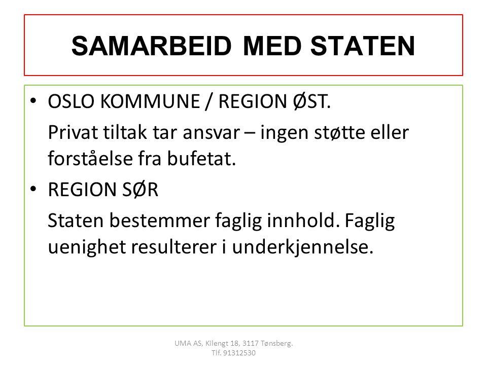 SAMARBEID MED STATEN • OSLO KOMMUNE / REGION ØST.